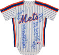 Baseball Collectibles:Uniforms, New York Mets Team Signed Jersey (34 Signatures). ...
