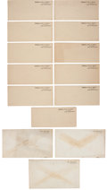 Military & Patriotic:Civil War, Very Rare Group of 14 Confederate War Department Blank Envelopes Taken as a Souvenir at the End of the War....