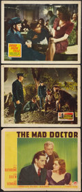 """Movie Posters:Crime, The Mad Doctor Lot (Paramount, 1940). Lobby Cards (3) (11"""" X 14""""). Crime.. ... (Total: 3 Items)"""