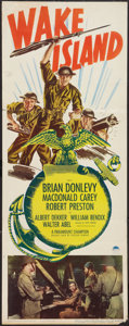 "Movie Posters:War, Wake Island (Paramount, R-1950). Insert (14"" X 36""). War.. ..."