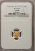 California Fractional Gold: , 1876/5 50C Indian Round 50 Cents, BG-1059, R.4, AU55 NGC. NGCCensus: (4/7). PCGS Population (8/89). (#10888)...