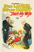 "Movie Posters:Comedy, That's My Wife (MGM, 1929). One Sheet (27"" X 41"").. ..."