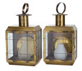 Movie/TV Memorabilia:Memorabilia, Two Electrical Brass Lanterns, 1970s.... (Total: 2 )