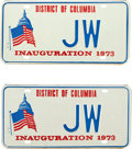 Movie/TV Memorabilia:Memorabilia, Two Commemorative License Plates, 1973.... (Total: 2 Items)