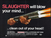 "Slaughter Lot (American International, 1972). British Quad (30"" X 40"") and Mini Lobby Card (8"" X 10""..."
