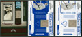 Baseball Cards:Singles (1970-Now), 2005 Playoff and Donruss Jim Thorpe Baseball Jersey Swatch CardTrio (3) - All Limited Editions. ...