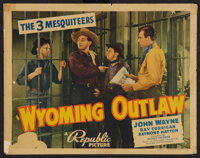 "Wyoming Outlaw (Republic, 1939). Title Lobby Card (11"" X 14""). Western"