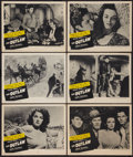 """Movie Posters:Western, The Outlaw (RKO, R-1950). Lobby Cards (6) (11"""" X 14""""). Western.. ... (Total: 6 Items)"""