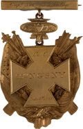 Military & Patriotic:Civil War, Elaborate Gold Medal, Co. C, 55th National Guard State of New York, 1867....