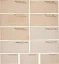 Military & Patriotic:Civil War, Rare Group of 11 Confederate Official Use Blank Envelopes....