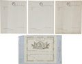 Military & Patriotic:Civil War, Rare Group of Blank Confederate Forms and Letter Sheets....
