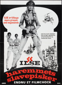 "Ilsa, Harem Keeper of the Oil Sheiks (Cambist Films, 1976). Danish Poster (24 X 33""). Exploitation"