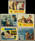 "Movie Posters:Romance, The Key Lot (Columbia, 1958). Title Lobby Card and Lobby Cards (4)(11"" X 14""). Romance.. ... (Total: 5 Items)"