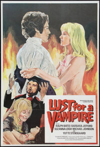 "Lust for a Vampire (Anglo-EMI Film, 1971). British One Sheet (27"" X 40""). Horror"