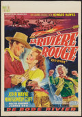 "Movie Posters:Western, Red River (United Artists, 1948). Belgian (14.5"" X 20.5"").Western.. ..."
