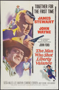 "Movie Posters:Western, The Man Who Shot Liberty Valance (Paramount, 1962). One Sheet (27"" X 41""). Western.. ..."