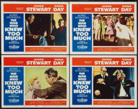 "The Man Who Knew Too Much (Paramount, 1956). Lobby Cards (4) (11"" X 14""). Hitchcock. ... (Total: 4 Items)"