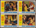 "Movie Posters:Serial, Secret Service in Darkest Africa (Republic, R-1954). Lobby Cards (4) (11"" X 14""). Chapter 1 -- ""North African Intrigue."" Ser... (Total: 4 Items)"