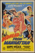 "Movie Posters:Comedy, Redhead from Manhattan (Columbia, 1943). One Sheet (27"" X 41"").Comedy.. ..."