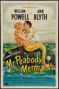 "Mr. Peabody and the Mermaid (Universal International, 1948). One Sheet (27"" X 41""). Comedy"