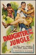 "Movie Posters:Adventure, Daughter of the Jungle (Republic, 1949). One Sheet (27"" X 41"").Adventure.. ..."