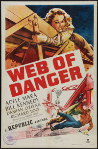 """Web of Danger Lot (Republic, 1947). One Sheet (27"""" X 41"""") and Half Sheet (22"""" X 28""""). Action. ... (T..."""