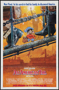 "An American Tail (Universal, 1986). One Sheets (2) (27"" X 41"") Advance and Regular Style. Animation. ... (Tota..."