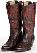 Movie/TV Memorabilia:Memorabilia, A Pair of Cowboy Boots, 1960s-1970s....