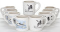 Movie/TV Memorabilia:Memorabilia, Nine Coffee Mugs from the 'Wild Goose,' 1960s.... (Total: 9 )