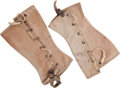 "Movie/TV Memorabilia:Memorabilia, A Pair of Spats Possibly from ""Sands of Iwo Jima.""... (Total: 2 )"