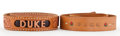Movie/TV Memorabilia:Memorabilia, Two 'Duke' Belts, 1970s.... (Total: 2 )