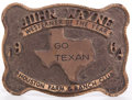 Movie/TV Memorabilia:Memorabilia, A Sterling Silver 'Go Texan' Belt Buckle, 1964....