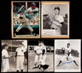 Baseball Collectibles:Photos, New York Yankees Stars Signed and Unsigned Photographs Lot....