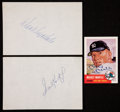 Baseball Collectibles:Others, Sandy Koufax, Don Drysdale and Mickey Mantle Signed Memorabilia Lotof 3....