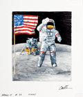 Pulp, Pulp-like, Digests, and Paperback Art, CHRIS CALLE (American, b. 1961). Apollo 15, 4th Lunar Landing,From Earth to Moon, United States First Day Cover Society...