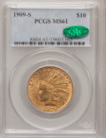 Indian Eagles, 1909-S $10 MS61 PCGS. CAC....