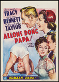 "Movie Posters:Comedy, Father's Little Dividend (MGM, 1951). Belgian (13.75"" X 19""). Comedy.. ..."