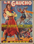 "Movie Posters:Adventure, Way of a Gaucho (20th Century Fox, 1952). Belgian (14"" X 18.25"").Adventure.. ..."