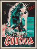 "Movie Posters:Science Fiction, Godzilla (Toho, 1957). French Affiche (23.5"" X 31.5""). ScienceFiction.. ..."