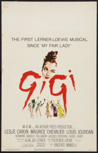 "Gigi (MGM, 1958). Window Card (14"" X 22""). Musical"