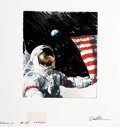 Pulp, Pulp-like, Digests, and Paperback Art, CHRIS CALLE (American, b. 1961). Apollo 17, Last Lunar Landing,Cernan, Schmitt, Evans, From Earth to Moon, United States ...
