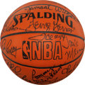 """Basketball Collectibles:Balls, NBA Legends Multi Signed Leather """"Spalding"""" Basketball...."""