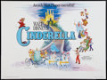 "Movie Posters:Animation, Cinderella (Walt Disney, R-1976). British Quad (30"" X 40"").Animation.. ..."
