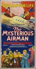 "Movie Posters:Serial, The Mysterious Airman (Weiss Brothers Artclass Pictures, 1928).Three Sheet (41"" X 81"") Chapter 7 -- ""The Leap For Life."" Se..."