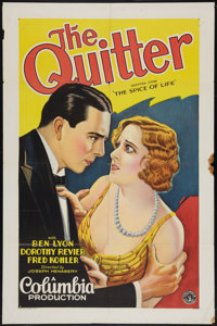 """The Quitter (Columbia, 1929). One Sheet (27"""" X 41"""") Style B. Drama"""