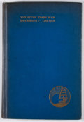 Books:First Editions, Sigmund Samuel. The Seven Years War in Canada 1756-1763.Toronto: Ryerson Press, [1934]. First edition. Octavo. Publ...