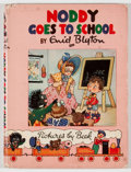 Books:Children's Books, Enid Blyton. Noddy Goes to School. London: Sampson Low, Marston,[1952]. First edition. Octavo. Publisher's binding and dust...