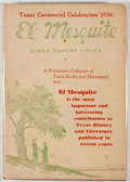 Books:First Editions, Elena Zamora O'Shea. El Mesquite. Dallas: Mathis Publishing,[1935]. First edition. Octavo. Publisher's binding and ...