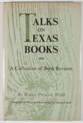 Books:First Editions, Walter Prescott Webb. Talks on Texas Books: A Collection of BookReviews. Austin: Texas State Historical Association...