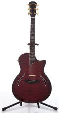 Musical Instruments:Electric Guitars, 2005 Taylor T5-C1 Cherry Acoustic Electric Guitar, #20050726535....